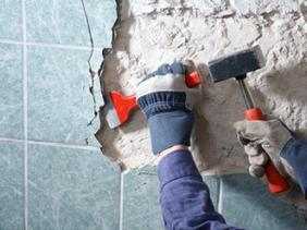 Демонтаж плитки с пола Снятие старой плитки Цены